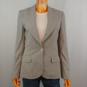 STELLA MCCARTNEY | pale gray pinstripe suit blazer